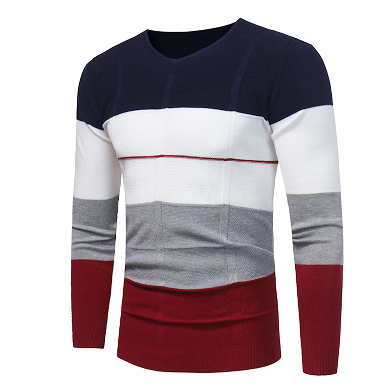 Autumn and Winter Fashion Youth Men Long-sleeved Warm Sweater Size S-3XL Slim Elegant Men's Flower Knit Sweater