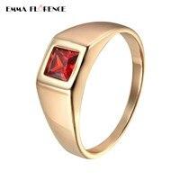 زركون حلقة بارد اللون تشيكوسلوفاكيا حجر صغير المقاوم للصدأ حلقات للنساء الرجال هدية الأزياء والمجوهرات النسائية الحجر الأحمر حلقة