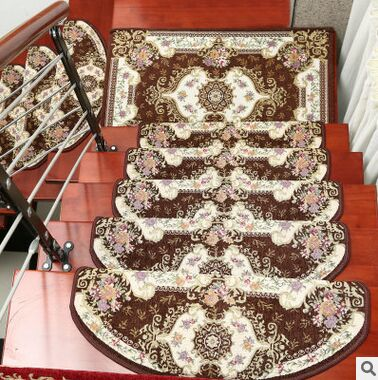 Since 13-Pieces Stair Carpet Sets Slip Resistance Stair Tread Mats Rugs For Stair Step 24X74cm Fit For 25cm Width Stair