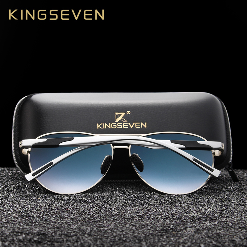 Image 4 - KINGSEVEN, дизайнерские мужские классические Поляризованные солнцезащитные очки, алюминиевые очки пилота, солнцезащитные очки с защитой от уф400 лучей, NF 7228-in Мужские солнцезащитные очки from Аксессуары для одежды on AliExpress - 11.11_Double 11_Singles' Day