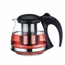 2 גודל זכוכית תה סיר קומקום עם 304 נירוסטה infuser קומקומי עבור puer אולונג שחור תה מסיבת מחומם מיכל מתבשל