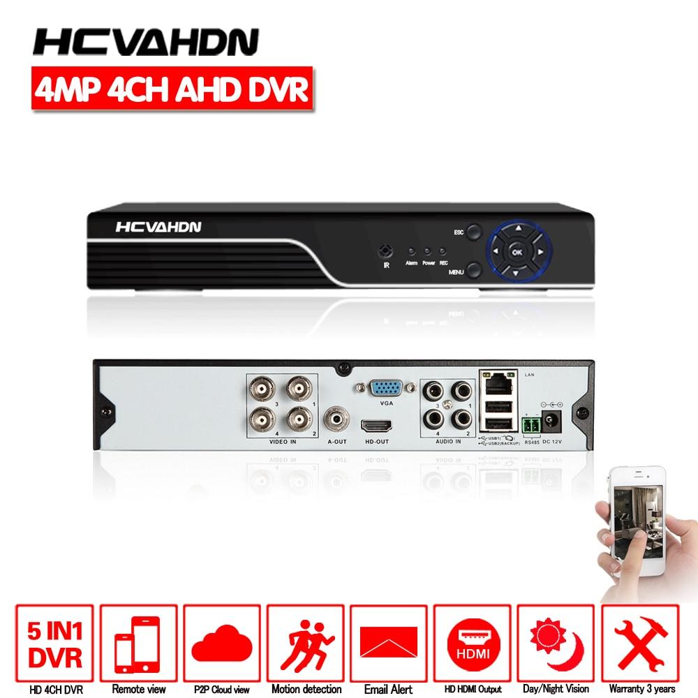 HD 4CH 4MP Recorder AHD DVR 5MP NVR Recorder H.264 CCTV security Standalone Digital Network 8 channel DVR Cloud P2P Mobile View 4ch ahd dvr recorder 1080p 720p 960h network dvr 4 channel h 264 cctv 4ch dvr hvr nvr system p2p digital video recorder
