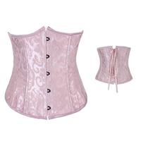 Dobby underbust corset pas cher underwear femmes usure corselet taille minceur corsage gothique broderie poitrine liant