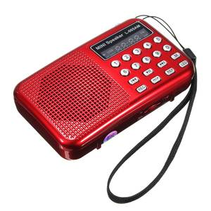 Image 3 - Leory Led Digitale Am/Fm Radio Voice Recorder Speaker Draagbare Oplaadbare Usb Tf Met Mp3 Speler Led Zaklamp