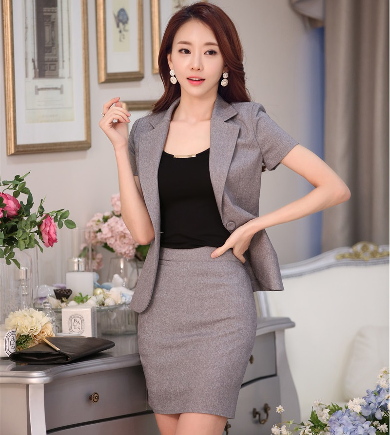 New 2016 spring summer formal formal grey blazer women for Office uniform design 2016