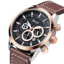 Classic Business Men's Watch Chronograph Calendar Quartz Wristwatches Casual Belt Watches Relogio Free Shipping Sale цены онлайн
