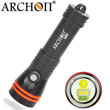 ARCHON D15VP 100 M latarka do nurkowania wideo światło punktowe biały czerwony * LED 1300 lumenów 110/30 stopni 100 M pod wodą latarka