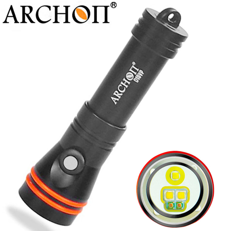 ARCHON D15VP 100M Diving Flashlight Video Spot Light White Red CREE LED 1300 Lumens 110 / 30 Degree 100M Underwater Flashlight