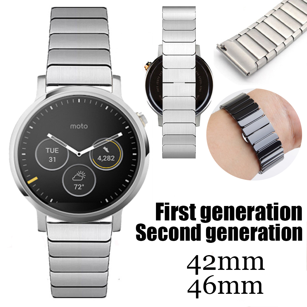 Premium 316L Stainless Steel Watchband For MOTO 360 1st 2nd generation Men font b Smartwatch b