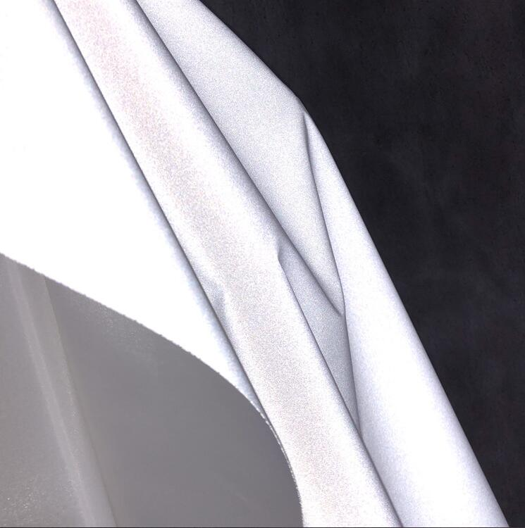 140cm Bright white reflective luminous fabric safety warning special materials diy textiles wedding cloth laser fabric C556 in Fabric from Home Garden
