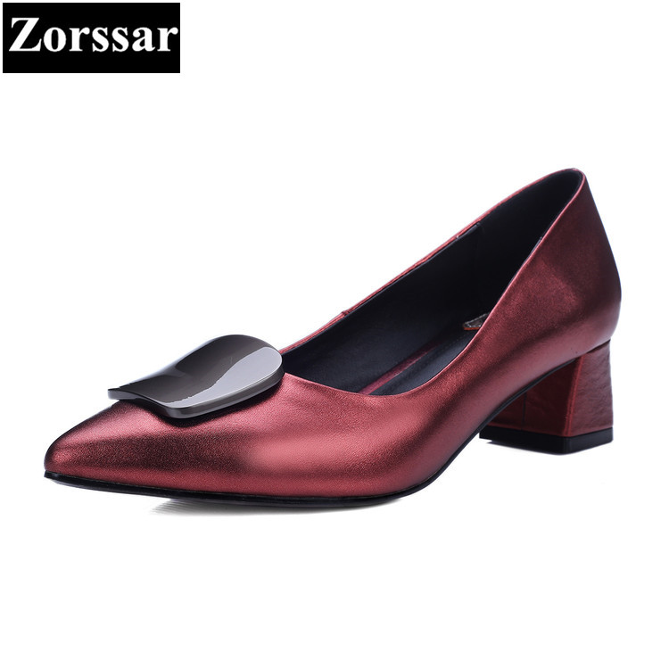 {Zorssar} 2018 new women High Heels pointed toe Pumps Handmade Luxury brand Hot Fashion Ladies Single shoes big size 34-42 new 2017 spring summer women shoes pointed toe high quality brand fashion womens flats ladies plus size 41 sweet flock t179