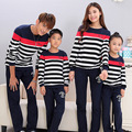 Stripe Tops Active Family Clothing Mom/Mother and Daughter Father Son Clothes Family Clothing Matching Family Set Clothes TT01