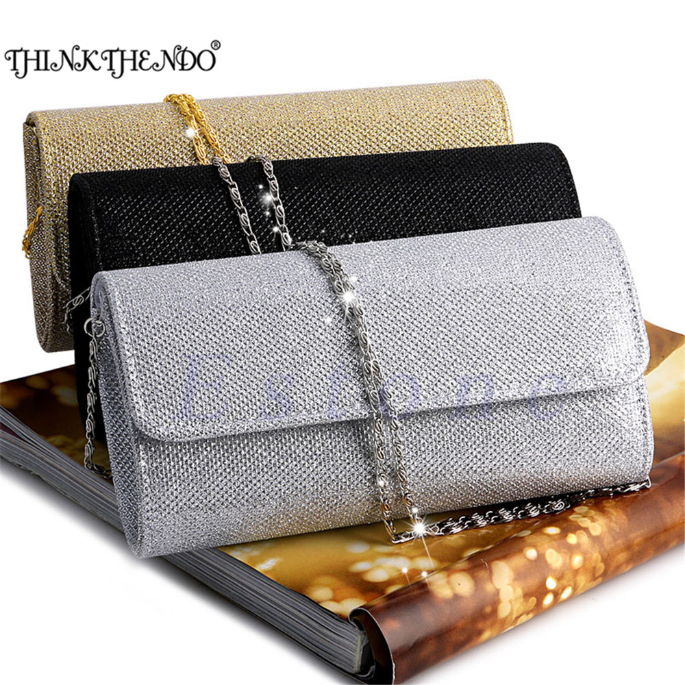 THINKTHENDO 1 PC HOT Women's Evening Shoulder Bag Bridal Clutch Party Prom Wedding Handbag 4 Color