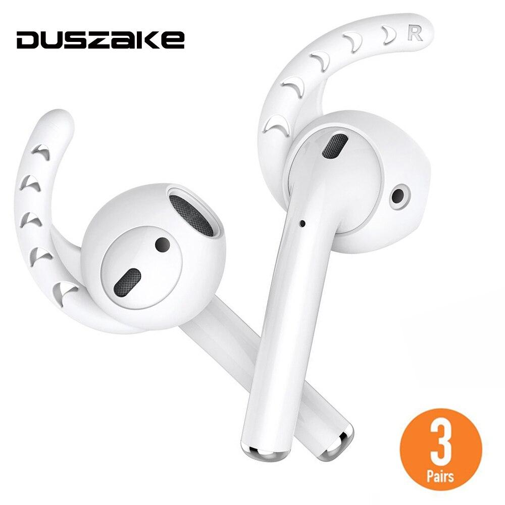 Duszake reemplazo para AirPods funda silicona gancho de oreja para las vainas del aire para Apple Airpods caso Earbuds consejos para Apple earPods