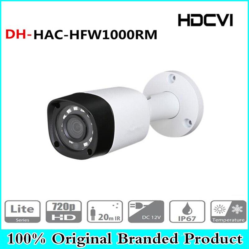 все цены на DH Wholesale HAC-HFW1000RM 1MP HDCVI IR Bullet Camera Smart IP67 720P HD CCTV Lite Series DH-HAC-HFW1000RM Free shipping онлайн