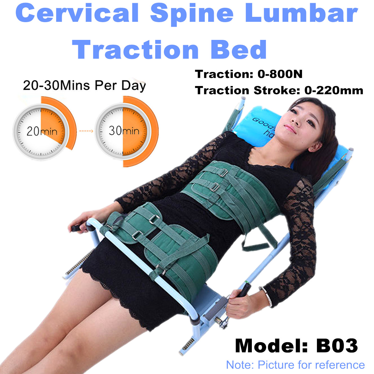Body Stretching Device Cervical Spine Lumbar Spine Traction Bed Therapy Massage for Neck & Lumbar Reduce Spine Joint Pressure healthcare gynecological multifunction treat for cervical erosion private health women laser device