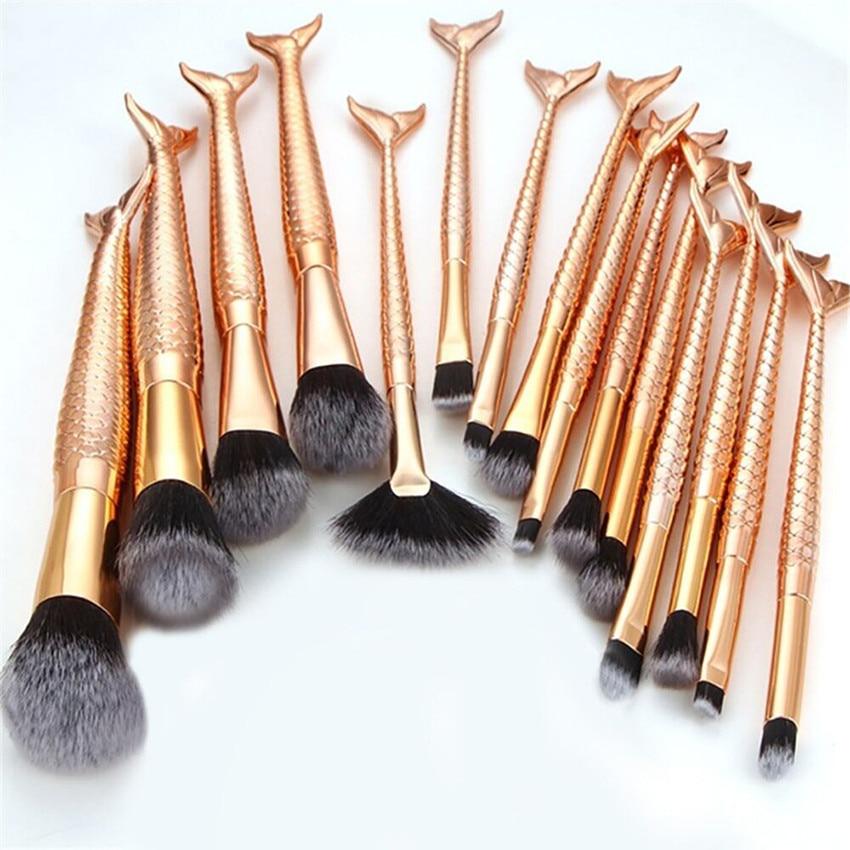 цены на Professional 15PCS/Sets Eye Shadow Foundation Eyebrow Lip Makeup Brushes Cosmetic Concealer Blending Blush Brush в интернет-магазинах