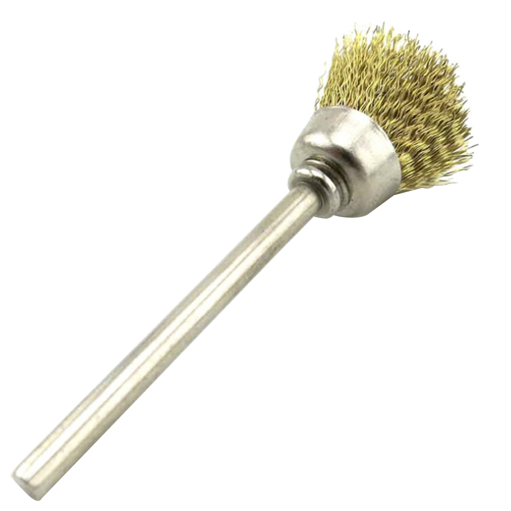 8mm Stainless Steel Wire Brush with Bowl-shape Head and 2.35mm Shank for Clean