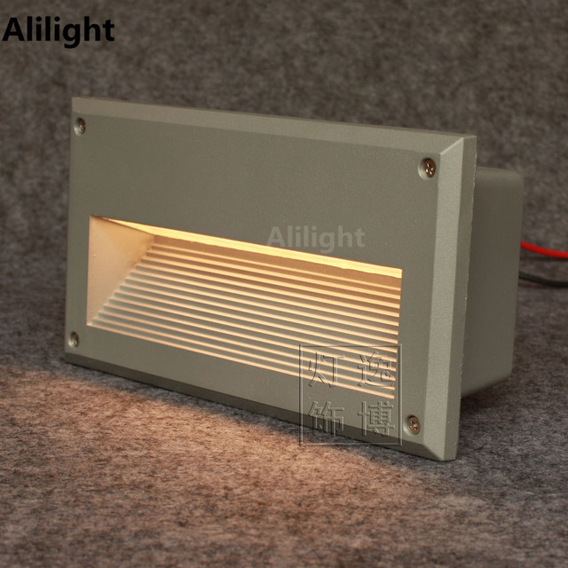 modern aluminum glass recessed led floor light corner lamp concave