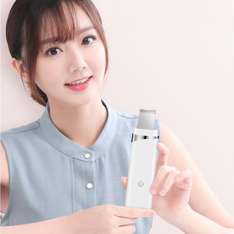 Ultrasonic Scrubber Skin Spatula Peeling Shovel Facial Pore Cleaner Blackhead Remover Face Lifting USB Rechargeable