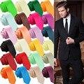 La Venta caliente Ocasional Delgado Formal Del Color Sólido Flaco Corbata Lazo de Los Hombres Wedding Party Corbata Para Los Hombres Ropa Accesorios Colores F6331a