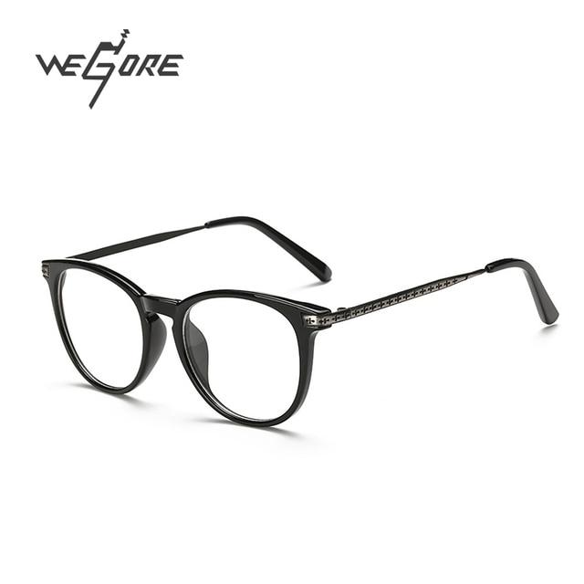 38c70c9672 WEGORE Classic Mujeres Hombres Anteojos Ópticos Marcos de Las Lentes Grandes  Del Marco Lente Transparente Gafas