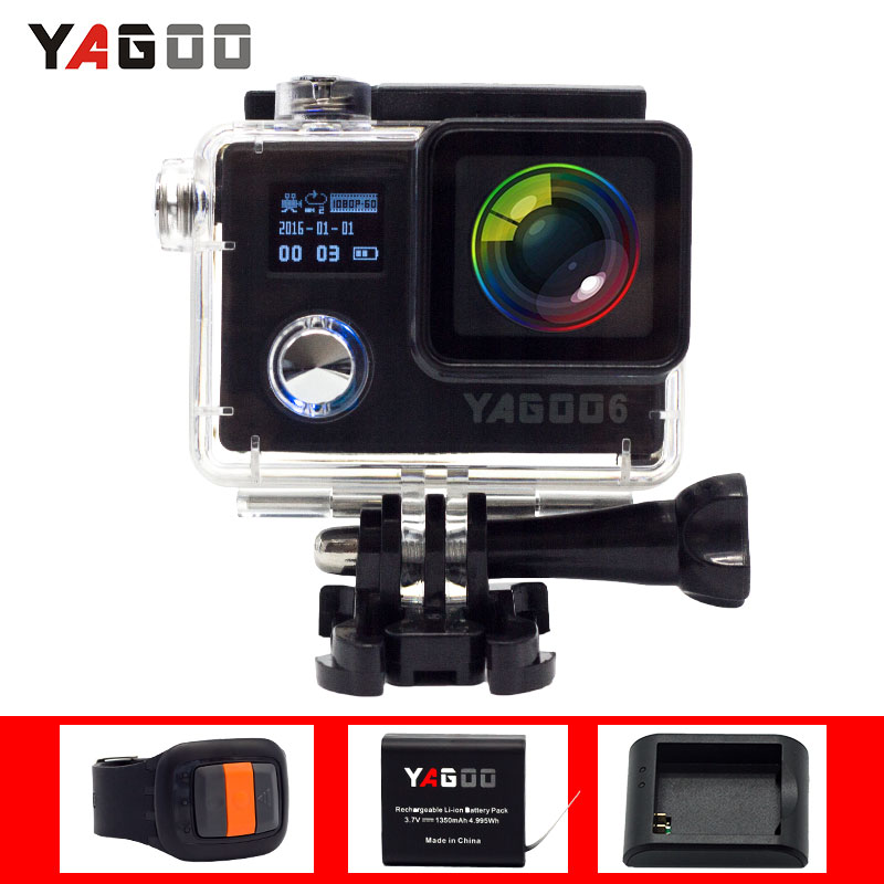 Original yagoo6 Action Camera WIFI 20MP Full HD 1080P 30FPS 2.0LCD Diving 30M remote Waterproof Sport Camera mini cam DV 4k 30fps action camera wifi 1080p uhd 2 0 lcd screen 30m waterproof diving 170 degree sport action camera dv camera