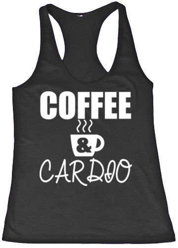 5e68b3f30500e Online Shop COFFEE   CARDIO Women Yoga Tank GYM Fitness Clothes Squat  Workout Cute Funny Top Tees Shirt