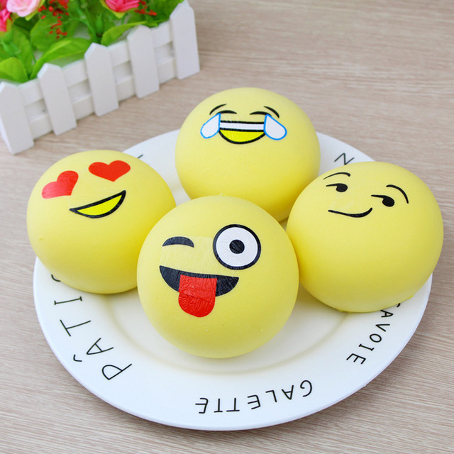 squishy anti stress Squishies Emoji Super Slow Rising Fruits Scented Squeeze  Stress Relief Toys ForChildren#G