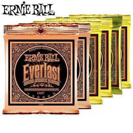 Ernie Ball Ever-last Coated Phosphor Bronze Acoustic Guitar Strings 2548 2550 2554 2556 2558 2560 savarez 510 cantiga series alliance cantiga normal high tension classical guitar strings full set 510arj