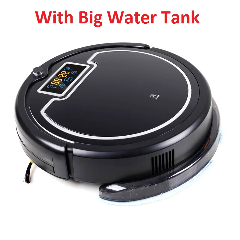 Ship from Russia/ Robot Vacuum Cleaner with Water Tank,Wet & Dry Mop,Touch Screen,Tone,Schedule,Virtual Blocker,Self Charge,UV 2017 wifi smartphone app control sweeping vacuum sterilize wet and dry mop vacuum cleaner robot qq6 update with water tank