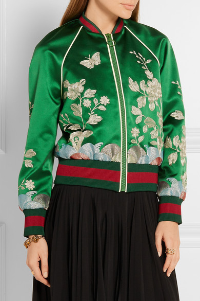 Chicing 2016 Floral Bomber Jacket Women New Arrival Silk Satin