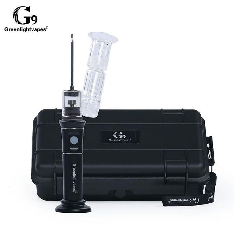 Greenlightvapes G9 enail innovant personnalisé verre dab plate-forme tuyau de fissure d'eau électrique fumer tuyau henail verre fumée tuyau 0C