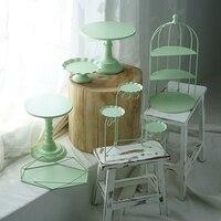 Зеленая стойка для кексов, пирожное Корзиночка лотки для тортов инструменты для украшения дома вечерние десертный стол поставщики парфюме