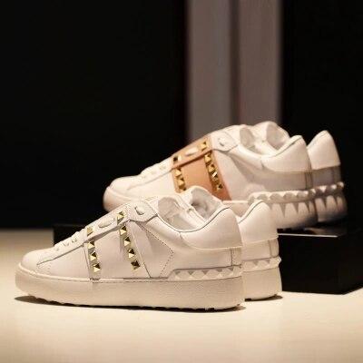 Piatto Selvaggio Bianco Rivetto Cuoio 2019 1 Di Casual Femminili 2 Scarpe  Coreano Primavera SUqUfza a5554db8a85
