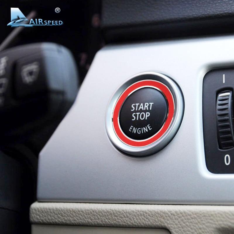 Vitesse En Alliage D'aluminium Moteur Start Stop Anneau Garniture Clé de Contact Anneau pour BMW E90 E92 E93 3 Série 318 320 325i 2005-2012