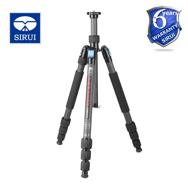Sirui W-1204 W1204 Tripod Monopod For DSLR Camera Stand Holder Carbon Fiber Professional Water/Sand Proof Portable штатив sirui w 2004