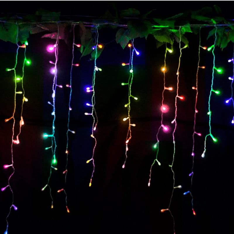 10 unids 220 V Led cadena de luces de Navidad cortina 3.5m / 96leds - Iluminación de vacaciones