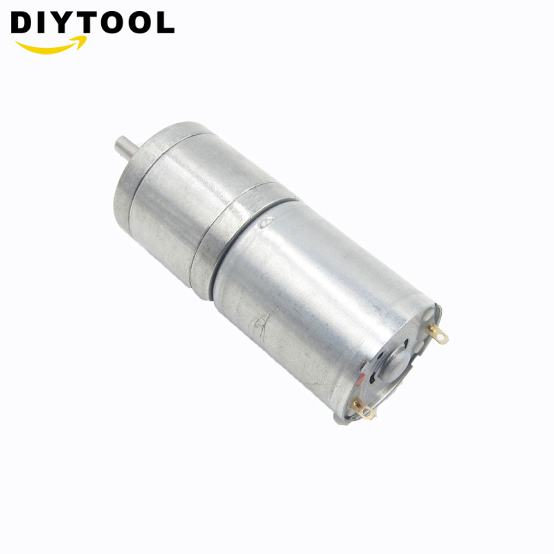 DC <font><b>12V</b></font> Gear <font><b>Motor</b></font> High Torque Electric Gear Reduction <font><b>Motor</b></font> Outer Diameter <font><b>25MM</b></font> Full Metal Reduction DC Gear <font><b>Motors</b></font> image