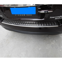 Stainless Steel Rear Bumper Cover Protector Trim For 2006 2007 2008 2009 2010 2011 2012 Hyundai