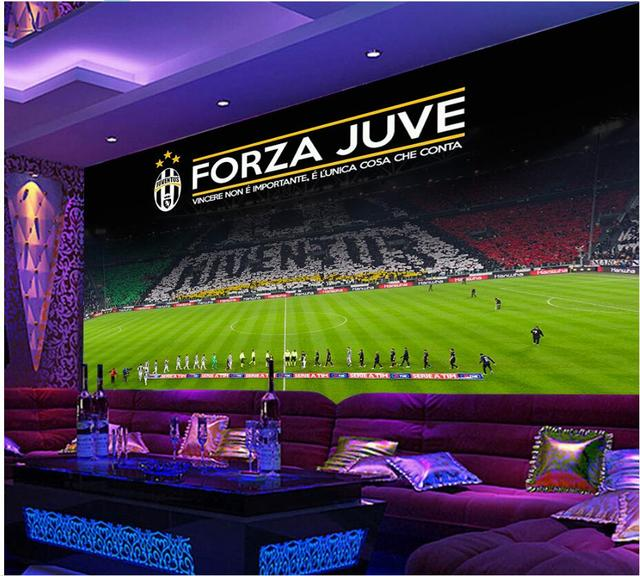 Custom photo 3d room wallpaper Football stadium KTV background wall