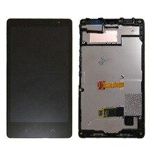 Per NOKIA X2 Display LCD e di Tocco Dello Schermo con Cornice di Ricambio parti di ricambio per NOKIA X2 Dual RM 1013 RM 1014 X2DS LCD cornice dello schermo