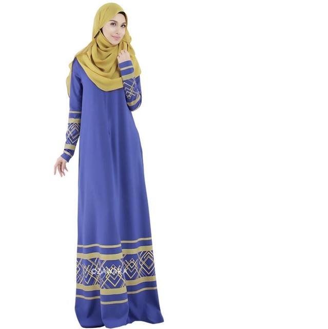 2016 Реальные Ropa Mujer Одежда Для Женщин-Мусульманок Платье Малайзия Индонезия Ближнем Востоке Мода Арабская Абая Бесплатная Доставка W117