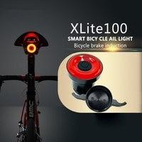 Габаритные огни для велосипеда из алюминиевого сплава, интеллектуальный датчик, тормозные огни, USB, микропорт, задние фонари и Кронштейн ном...