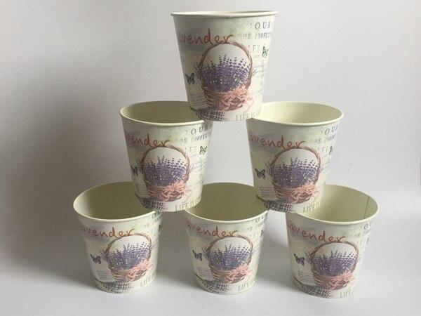 10Pcs/Lot D10.5xH10CM Round Mini Vase Metal Table centrepieces Lavender Design Flowerpot Flower pots Planters SF 067-in Flower Pots & Planters from Home & Garden