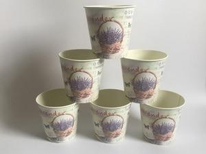 Image 1 - 6Pcs/Lot D10.5xH10CM Round Mini Vase Metal Table Centrepieces Lavender Design Flowerpot Flower pots SF 067