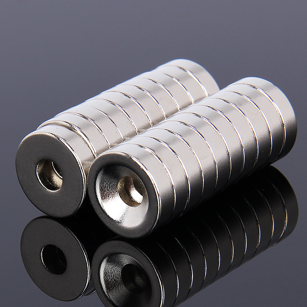 Hakkin 20 piezas 15x4mm imán neodimio disco 15x4 imán D15 * 4 NdFeB imán 15*4 neodimio D15 * 4mm W/5mm agujero