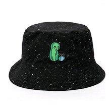 987433ce Black Print Pattern Bucket Hat For Women Men Couple Spring Summer Fisherman Hats  Caps Sunscreen Hip Hop Cap