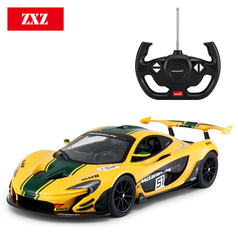 1:14 Remote Control Car for Mclaren P1 GTR Racing Version Supercar Luxury Sports RC Car Model Adult Child Toy for Boys Kid Gift