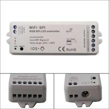 DC5V-24V RGB SPI WiFi LED Pixel Strip Controller Support WS2811 WS2812B TM1809 TM1812 LPD6803 WS2801 UCS1903 TLS3001 IC недорого